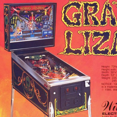 williams, grand lizard, pinball, sales, price, date, city, condition, auction, ebay, private sale, retail sale, pinball machine, pinball price