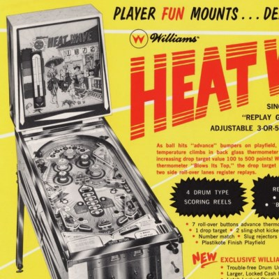 williams, heat wave, pinball, sales, price, date, city, condition, auction, ebay, private sale, retail sale, pinball machine, pinball price
