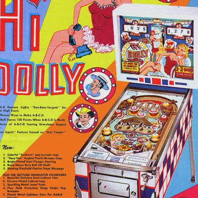 gottlieb, hi dolly, pinball, sales, price, date, city, condition, auction, ebay, private sale, retail sale, pinball machine, pinball price