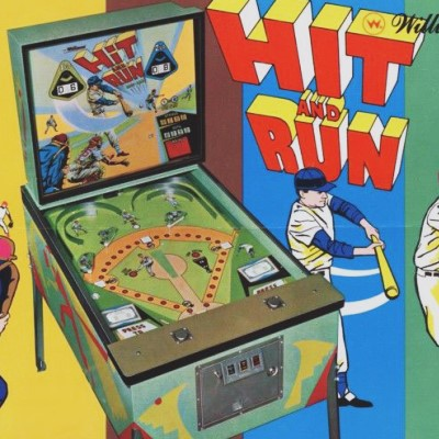 williams, hit and run base ball, pinball, sales, price, date, city, condition, auction, ebay, private sale, retail sale, pinball machine, pinball price