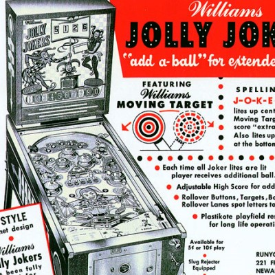 williams, jolly jokers, pinball, sales, price, date, city, condition, auction, ebay, private sale, retail sale, pinball machine, pinball price