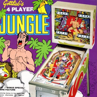 gottlieb, jungle, pinball, sales, price, date, city, condition, auction, ebay, private sale, retail sale, pinball machine, pinball price