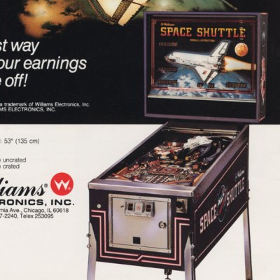 williams, space shuttle, pinball, sales, price, date, city, condition, auction, ebay, private sale, retail sale, pinball machine, pinball price