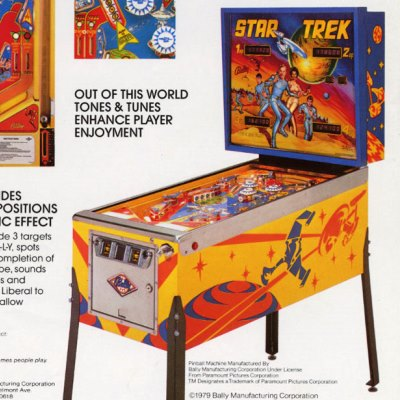 bally, star trek, pinball, sales, price, date, city, condition, auction, ebay, private sale, retail sale, pinball machine, pinball price