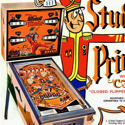 williams, student prince, pinball, sales, price, date, city, condition, auction, ebay, private sale, retail sale, pinball machine, pinball price