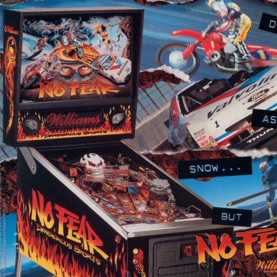 williams, no fear dangerous sports, pinball, sales, price, date, city, condition, auction, ebay, private sale, retail sale, pinball machine, pinball price