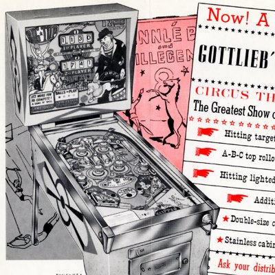 gottlieb, big top, pinball, sales, price, date, city, condition, auction, ebay, private sale, retail sale, pinball machine, pinball price