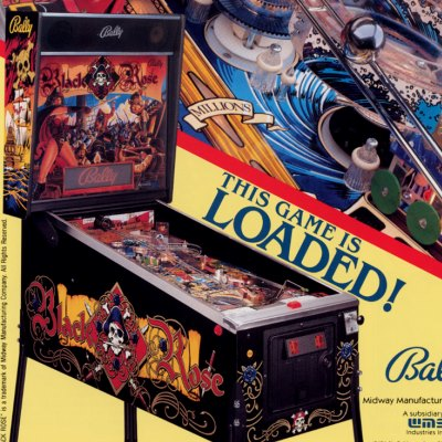 bally, black rose, pinball, sales, price, date, city, condition, auction, ebay, private sale, retail sale, pinball machine, pinball price