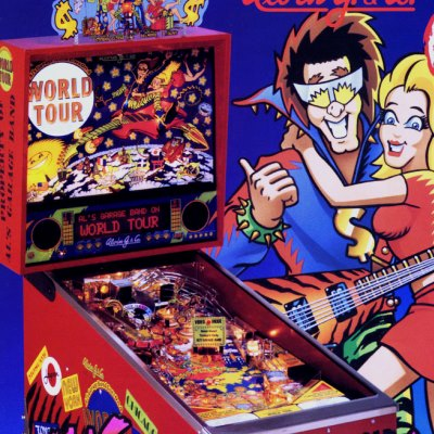 alvin g, als garage band goes on a world tour, pinball, sales, price, date, city, condition, auction, ebay, private sale, retail sale, pinball machine, pinball price