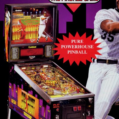 gottlieb, frank thomas big hurt, pinball, sales, price, date, city, condition, auction, ebay, private sale, retail sale, pinball machine, pinball price