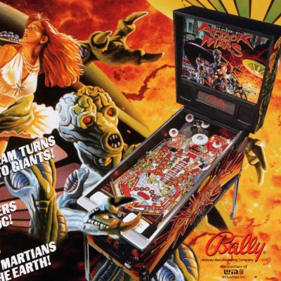 bally, attack from mars, pinball, sales, price, date, city, condition, auction, ebay, private sale, retail sale, pinball machine, pinball price