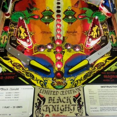 williams, black knight limited edition, pinball, sales, price, date, city, condition, auction, ebay, private sale, retail sale, pinball machine, pinball price