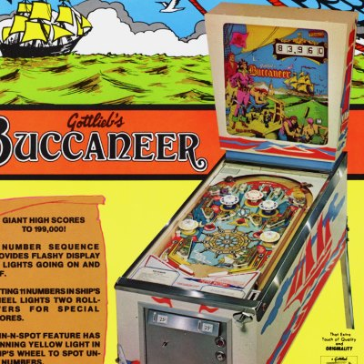 gottlieb, buccaneer, pinball, sales, price, date, city, condition, auction, ebay, private sale, retail sale, pinball machine, pinball price