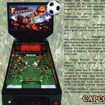 capcom, flipper football, pinball, sales, price, date, city, condition, auction, ebay, private sale, retail sale, pinball machine, pinball price