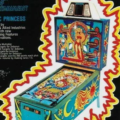 allied leisure, cosmic princess, pinball, sales, price, date, city, condition, auction, ebay, private sale, retail sale, pinball machine, pinball price