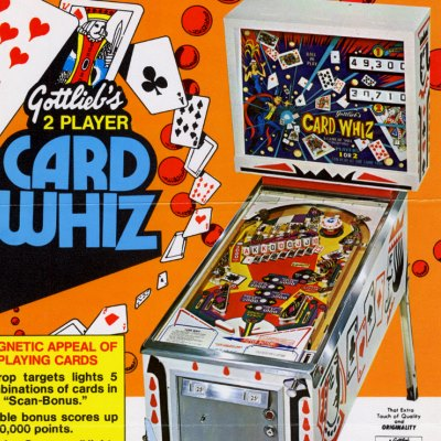 gottlieb, card whiz, pinball, sales, price, date, city, condition, auction, ebay, private sale, retail sale, pinball machine, pinball price