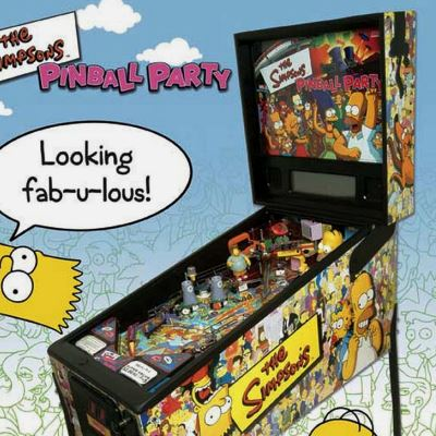 stern, the simpsons pinball party, pinball, sales, price, date, city, condition, auction, ebay, private sale, retail sale, pinball machine, pinball price