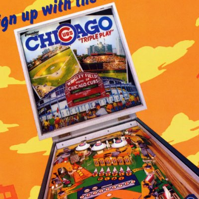 gottlieb, chicago cubs triple play, pinball, sales, price, date, city, condition, auction, ebay, private sale, retail sale, pinball machine, pinball price