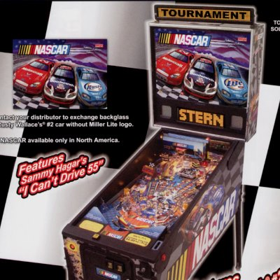 stern, nascar, pinball, sales, price, date, city, condition, auction, ebay, private sale, retail sale, pinball machine, pinball price