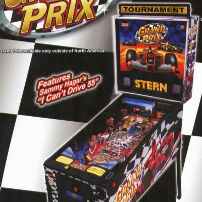 stern, grand prix, pinball, sales, price, date, city, condition, auction, ebay, private sale, retail sale, pinball machine, pinball price