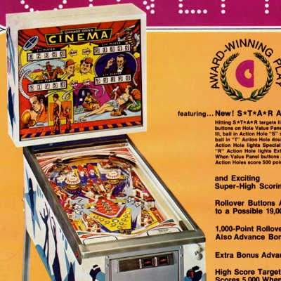 chicago coin, cinema, pinball, sales, price, date, city, condition, auction, ebay, private sale, retail sale, pinball machine, pinball price