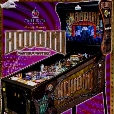 american pinball, houdini master of mystery, pinball, sales, price, date, city, condition, auction, ebay, private sale, retail sale, pinball machine, pinball price
