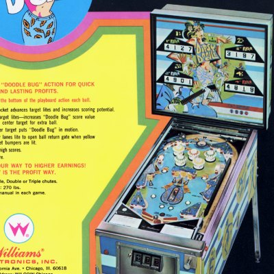 williams, dipsy doodle, pinball, sales, price, date, city, condition, auction, ebay, private sale, retail sale, pinball machine, pinball price