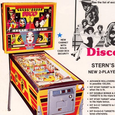stern, disco, pinball, sales, price, date, city, condition, auction, ebay, private sale, retail sale, pinball machine, pinball price