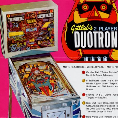 gottlieb, duotron, pinball, sales, price, date, city, condition, auction, ebay, private sale, retail sale, pinball machine, pinball price