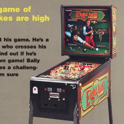 bally, eight ball champ, pinball, sales, price, date, city, condition, auction, ebay, private sale, retail sale, pinball machine, pinball price