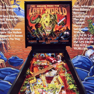 bally, escape from the lost world, pinball, sales, price, date, city, condition, auction, ebay, private sale, retail sale, pinball machine, pinball price