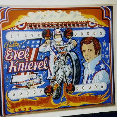 bally, evel knievel, pinball, sales, price, date, city, condition, auction, ebay, private sale, retail sale, pinball machine, pinball price