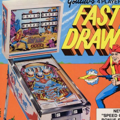 gottlieb, fast draw, pinball, sales, price, date, city, condition, auction, ebay, private sale, retail sale, pinball machine, pinball price