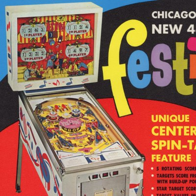 chicago coin, festival, pinball, sales, price, date, city, condition, auction, ebay, private sale, retail sale, pinball machine, pinball price