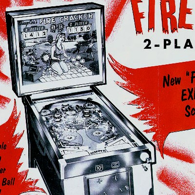 chicago coin, fire cracker, pinball, sales, price, date, city, condition, auction, ebay, private sale, retail sale, pinball machine, pinball price