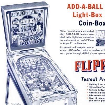 gottlieb, flipper parade, pinball, sales, price, date, city, condition, auction, ebay, private sale, retail sale, pinball machine, pinball price