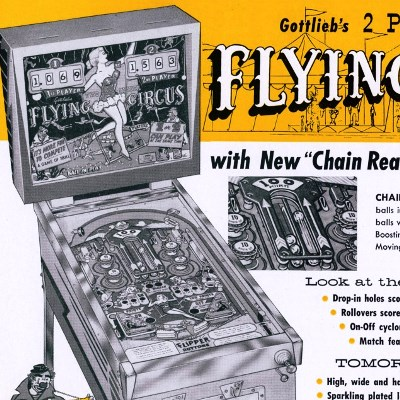 gottlieb, flying circus, pinball, sales, price, date, city, condition, auction, ebay, private sale, retail sale, pinball machine, pinball price
