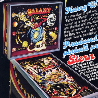 stern, galaxy, pinball, sales, price, date, city, condition, auction, ebay, private sale, retail sale, pinball machine, pinball price